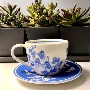 New, Starbucks Blueberry 13 oz. Mug And Saucer